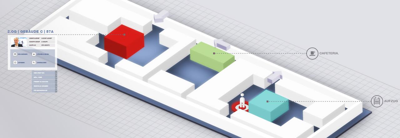 Gebäudeleitsystem Grundriss